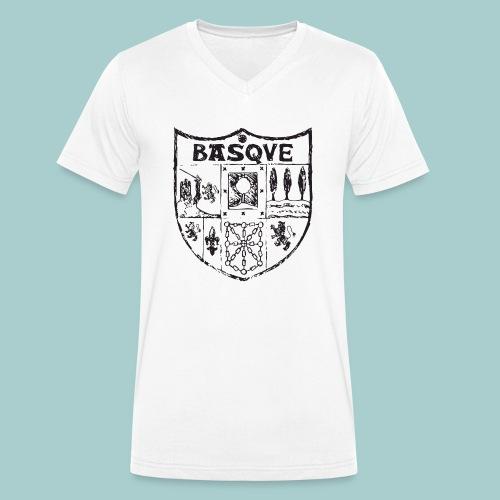 ropa adultos premiumdiseño Basque (negro) - Camiseta ecológica hombre con cuello de pico de Stanley & Stella