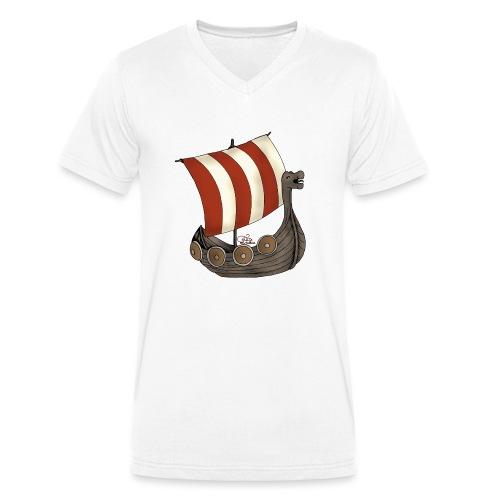 Eriks Winkingerschiff - Männer Bio-T-Shirt mit V-Ausschnitt von Stanley & Stella