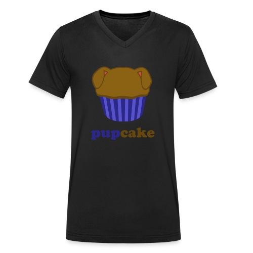 pupcake blauw - Mannen bio T-shirt met V-hals van Stanley & Stella