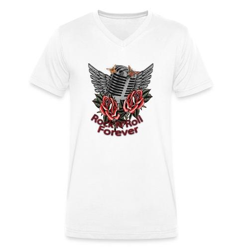 Rock'n'Roll Forever - Männer Bio-T-Shirt mit V-Ausschnitt von Stanley & Stella