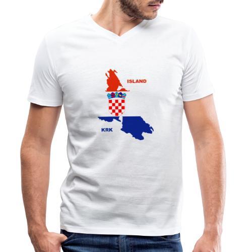 Krk Kroatien Adria Urlaub - Männer Bio-T-Shirt mit V-Ausschnitt von Stanley & Stella