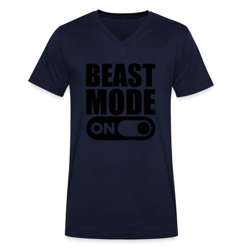 BEAST MODE ON - Men's Organic V-Neck T-Shirt by Stanley & Stella
