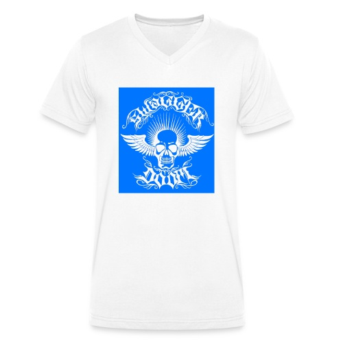 Swagger & Doom Blue/ White 1.0 - Men's Organic V-Neck T-Shirt by Stanley & Stella