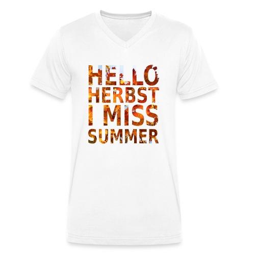 Hello Herbst - Männer Bio-T-Shirt mit V-Ausschnitt von Stanley & Stella