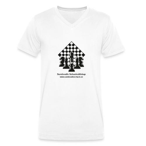 Sundsvalls Schacksällskap - Ekologisk T-shirt med V-ringning herr från Stanley & Stella