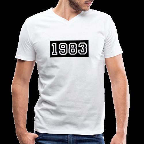 1983 - Camiseta ecológica hombre con cuello de pico de Stanley & Stella