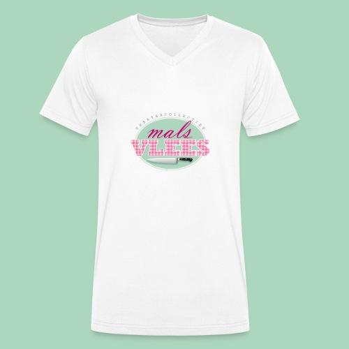Theatercollectief Mals Vlees logo - Mannen bio T-shirt met V-hals van Stanley & Stella