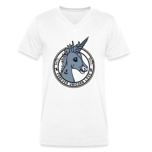 Colt - Unicorn Love (onwhite) - Männer Bio-T-Shirt mit V-Ausschnitt von Stanley & Stella