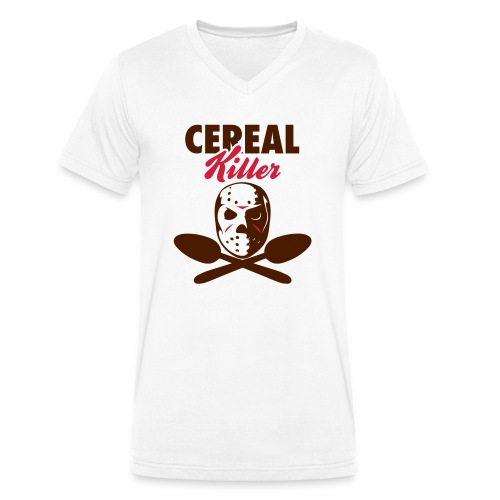 Cereal Killer - Männer Bio-T-Shirt mit V-Ausschnitt von Stanley & Stella