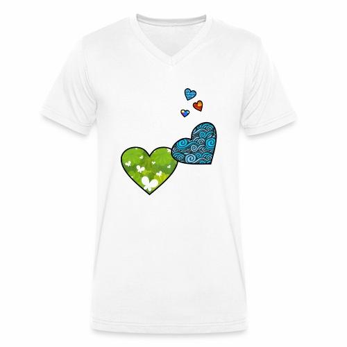 Herzchen - Männer Bio-T-Shirt mit V-Ausschnitt von Stanley & Stella