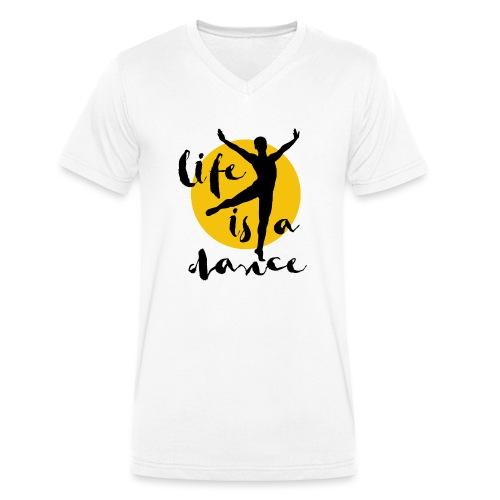 Ballett Tänzer - Männer Bio-T-Shirt mit V-Ausschnitt von Stanley & Stella