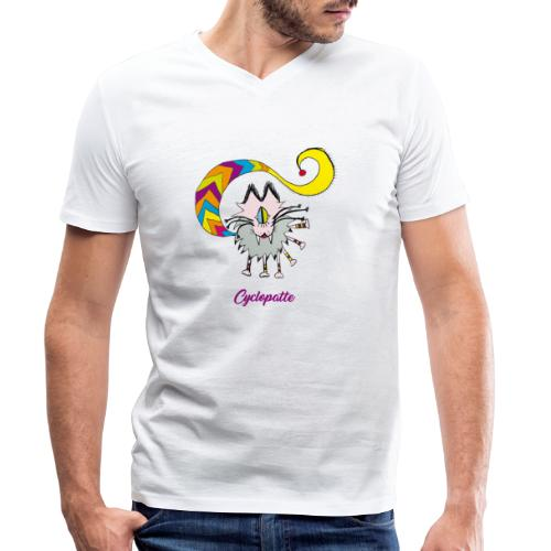 Cyclopatte - T-shirt bio col V Stanley & Stella Homme