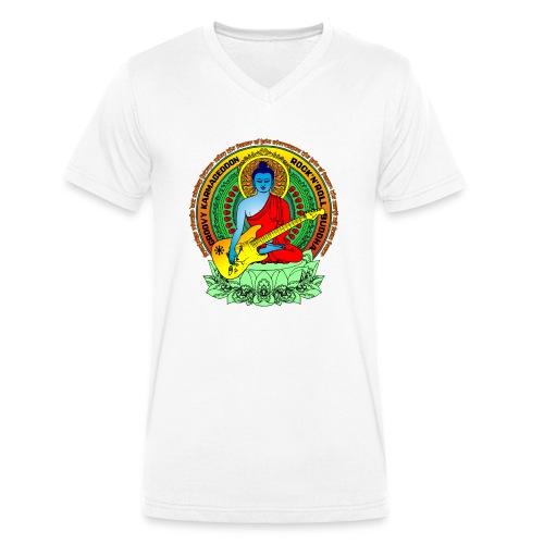 Rock'n'Roll Buddha - Männer Bio-T-Shirt mit V-Ausschnitt von Stanley & Stella