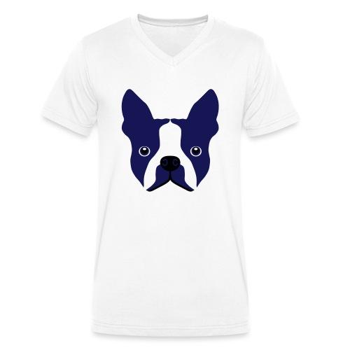 Französische Bulldogge - Männer Bio-T-Shirt mit V-Ausschnitt von Stanley & Stella