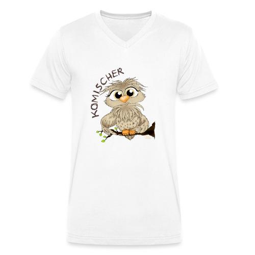 Komischer Kauz - Männer Bio-T-Shirt mit V-Ausschnitt von Stanley & Stella