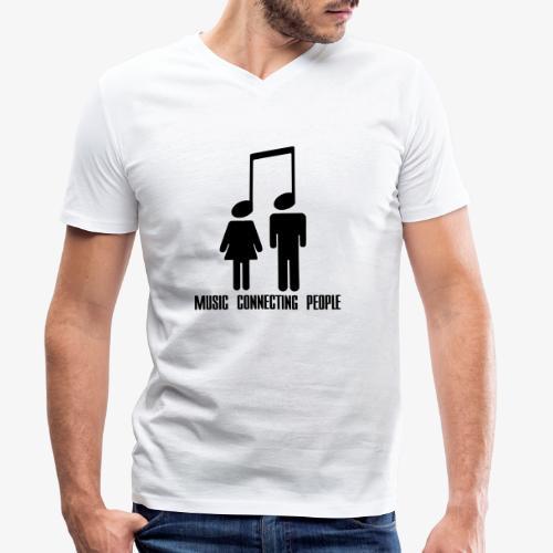 Music Connecting People - Männer Bio-T-Shirt mit V-Ausschnitt von Stanley & Stella
