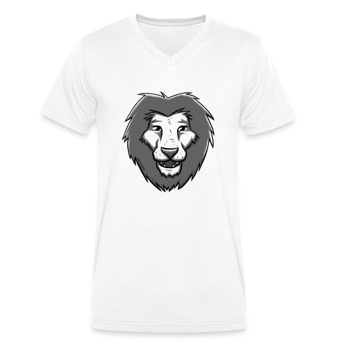Löwensmile - Männer Bio-T-Shirt mit V-Ausschnitt von Stanley & Stella