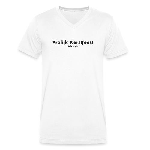 Vrolijk kerstfeest alvast - Mannen bio T-shirt met V-hals van Stanley & Stella