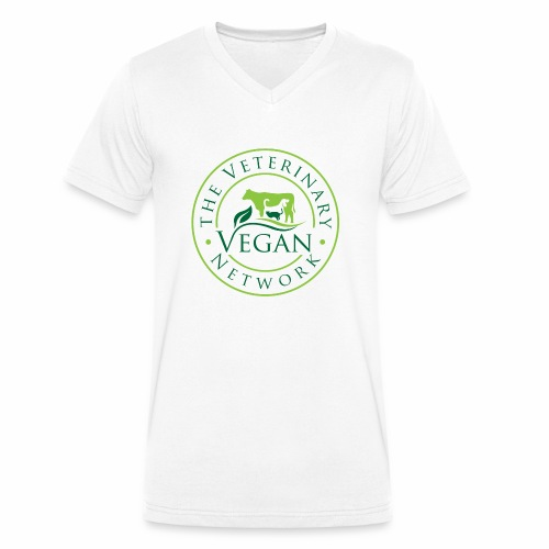 Veterinary Vegan Network Logo - Men's Organic V-Neck T-Shirt by Stanley & Stella