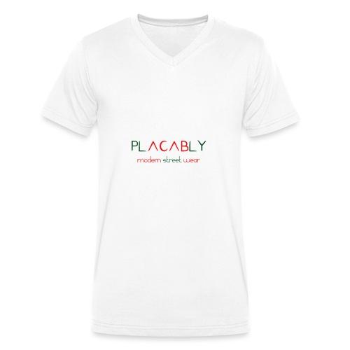 PLACABLY - modern street wear - Männer Bio-T-Shirt mit V-Ausschnitt von Stanley & Stella