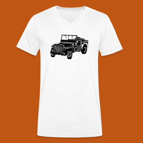 Geländewagen / Jeep SUV 02_schwarz weiß - Männer Bio-T-Shirt mit V-Ausschnitt von Stanley & Stella