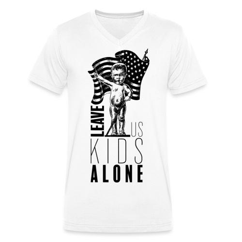 Leave us kids alone - T-shirt bio col V Stanley & Stella Homme