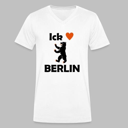 Ick liebe ❤ Berlin - Männer Bio-T-Shirt mit V-Ausschnitt von Stanley & Stella