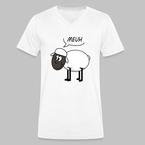Meuh - Men's Organic V-Neck T-Shirt by Stanley & Stella