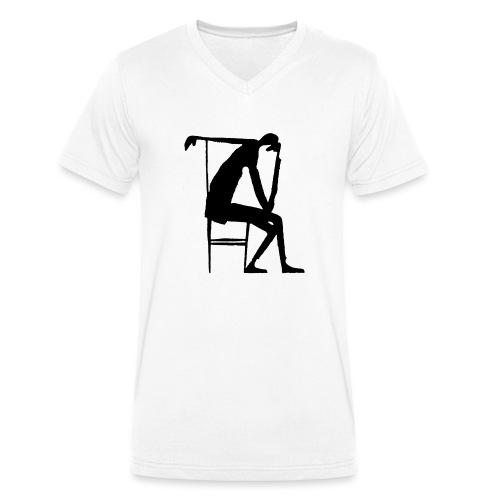 Franz Kafka - Der Denker - Männer Bio-T-Shirt mit V-Ausschnitt von Stanley & Stella