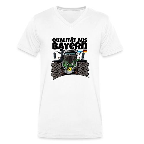 Qualitaet aus Bayern F def - Mannen bio T-shirt met V-hals van Stanley & Stella