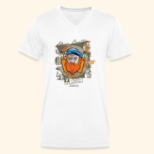 Malthead Whisky T Shirt - Männer Bio-T-Shirt mit V-Ausschnitt von Stanley & Stella