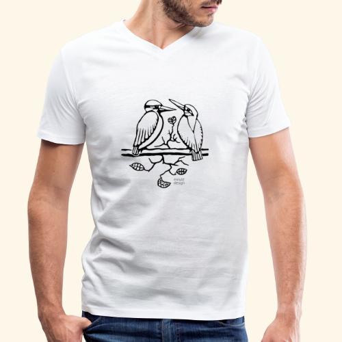 Eisvogel Liebe - Männer Bio-T-Shirt mit V-Ausschnitt von Stanley & Stella