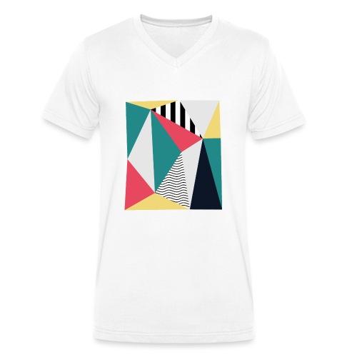 Triangulos - Camiseta ecológica hombre con cuello de pico de Stanley & Stella