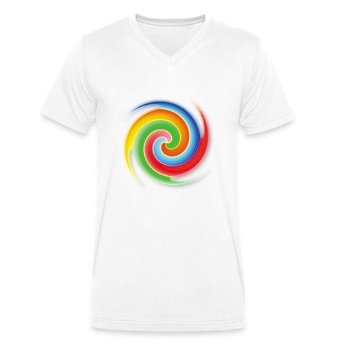 deisold rainbow Spiral - Männer Bio-T-Shirt mit V-Ausschnitt von Stanley & Stella