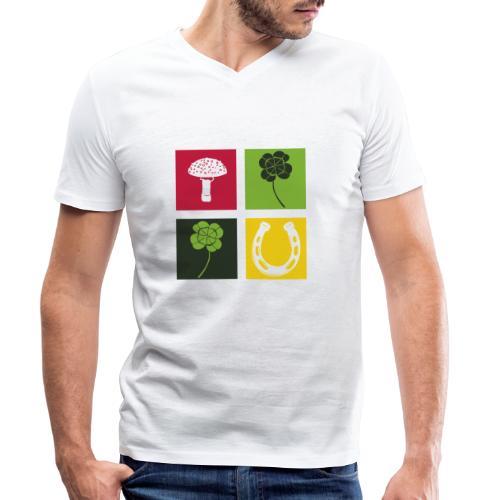 Just my luck Glück - Männer Bio-T-Shirt mit V-Ausschnitt von Stanley & Stella