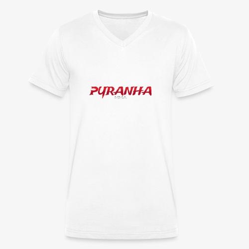 Pyranha MMA (ohne Rand) - Männer Bio-T-Shirt mit V-Ausschnitt von Stanley & Stella