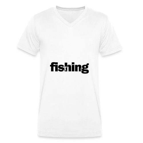 Word Fishing - Camiseta ecológica hombre con cuello de pico de Stanley & Stella
