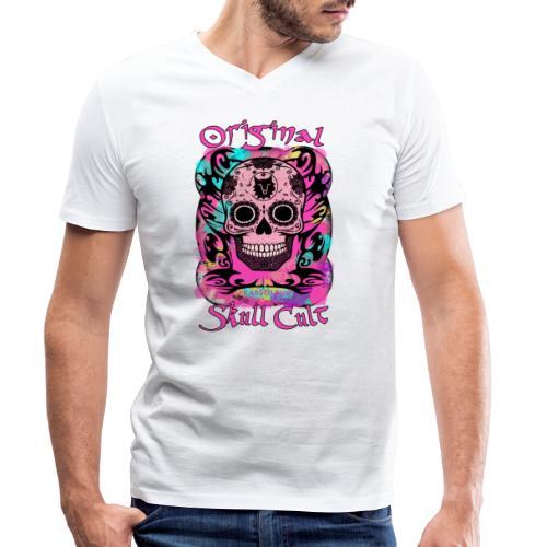 ORIGINAL SKULL CULT PINK - Männer Bio-T-Shirt mit V-Ausschnitt von Stanley & Stella