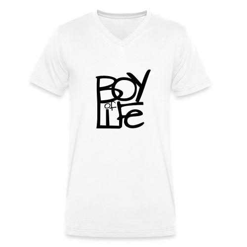 Boy of Life Logo black - Männer Bio-T-Shirt mit V-Ausschnitt von Stanley & Stella