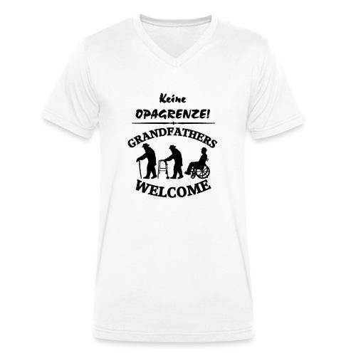 Opagrenze - Männer Bio-T-Shirt mit V-Ausschnitt von Stanley & Stella