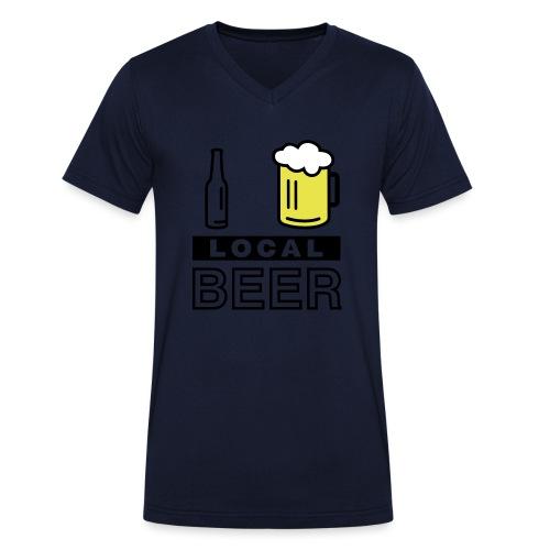 I Love Local Beer - Männer Bio-T-Shirt mit V-Ausschnitt von Stanley & Stella