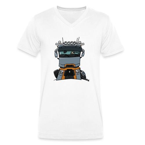 0813 R truck - Mannen bio T-shirt met V-hals van Stanley & Stella