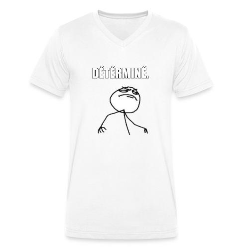 DÉTÉRMINÉ. - T-shirt bio col V Stanley & Stella Homme