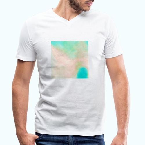 Atoll beach watercolor beige nature - Men's Organic V-Neck T-Shirt by Stanley & Stella