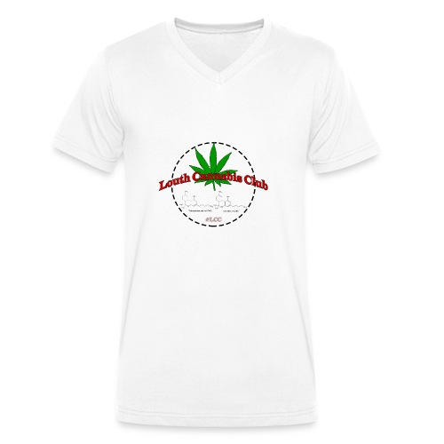 Louth cannabis club - Men's Organic V-Neck T-Shirt by Stanley & Stella