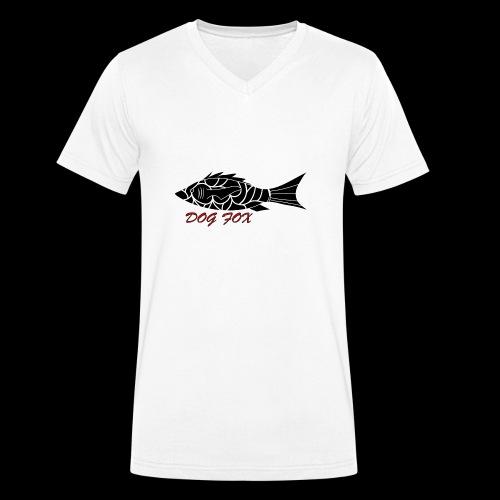Dogfox Fisch - Männer Bio-T-Shirt mit V-Ausschnitt von Stanley & Stella
