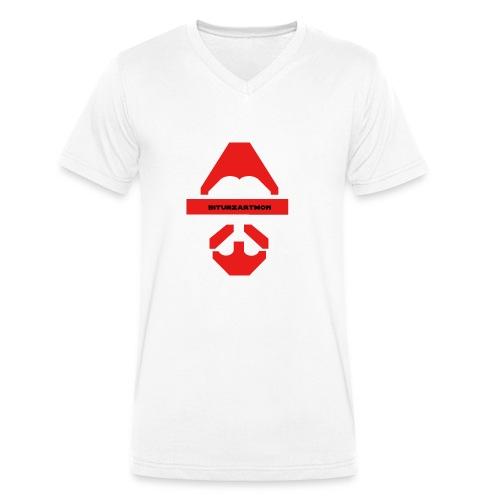 Biturzartmon Logo rot glatt - Männer Bio-T-Shirt mit V-Ausschnitt von Stanley & Stella