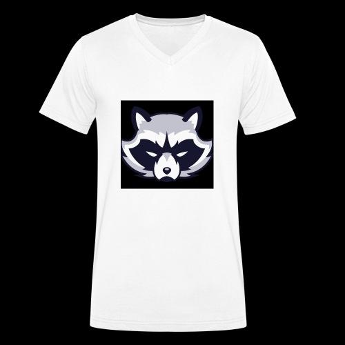 WaschbeerKopf Logo :) - Männer Bio-T-Shirt mit V-Ausschnitt von Stanley & Stella