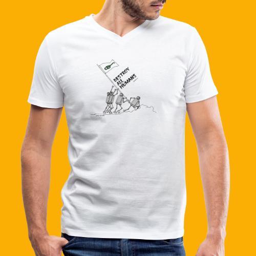 Dat Robot: Destroy War Light - Mannen bio T-shirt met V-hals van Stanley & Stella