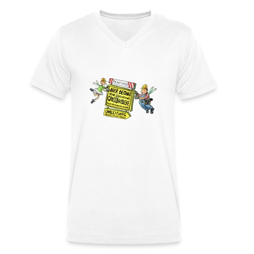 Baustelle - Männer Bio-T-Shirt mit V-Ausschnitt von Stanley & Stella
